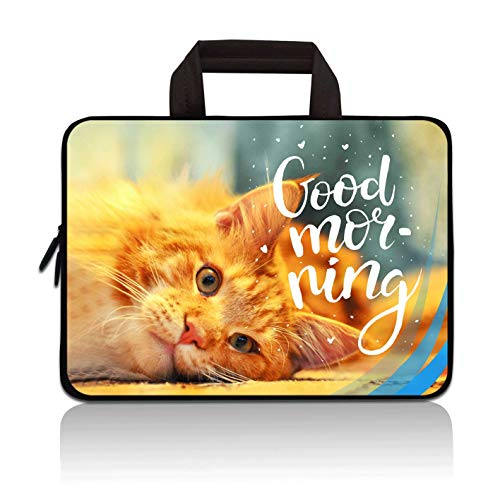 11 11.6 12 12.1 12.5 inch Laptop Carrying Bag Chromebook Case Notebook Ultrabook Bag Tablet Cover Neoprene Sleeve for Apple MacBook Air Samsung Google Acer HP DELL Lenovo Asus(Cat)