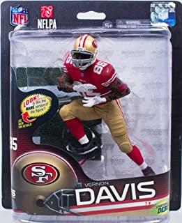 Vernon Davis #85 Red Jersey Action Figure Debut San Francisco 49'ers Forty Niners Red Jersey McFarlane NFL Series 32 by Unknown