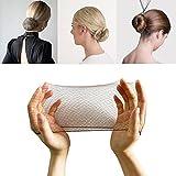 50 redes para el pelo de malla invisible (café) mallas elásticas para moños para bailarina, gimnasia, jinete, chef, enfermera.