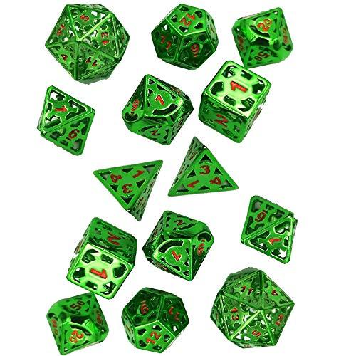 JenLn Bunte mehrfachgesichtige Würfel-Tabelle Würfel Set Hollow Metal Dice Game Laufwerksspielzeug (2 Sets) Rolle Spielen Würfel (Color : Color 10, Size : 20mm)