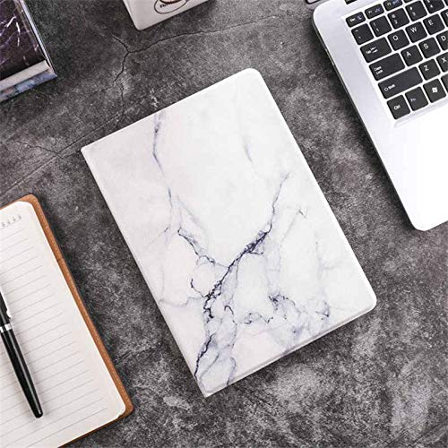 GHC PAD Cases & Covers For iPad 2017 2018 9.7 iPad 5th 6th, Marble Case Marble Flip Smart A1822 A1895 Cover for iPad 2018 9.7 (Color : White)