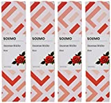 Solimo Incense Sticks with a sweet and refreshing Rose fragrance Freshens the air and eliminates bad odours Burning time: 47 minutes Ideal for creating a calming atmosphere at home or the office Perfect for pujas, aroma therapy and meditation Also av...