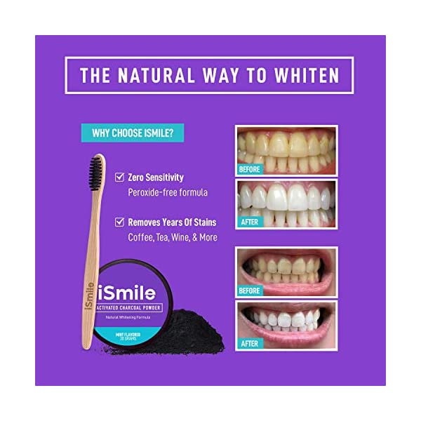 iSmile Activated Charcoal Natural Teeth Whitening Powder