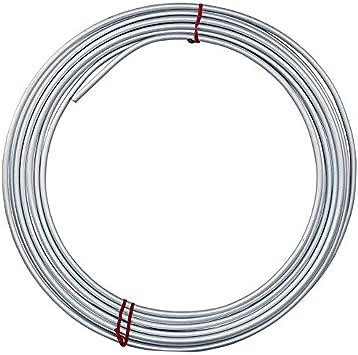 4LIFETIMELINES Galvanized Steel Brake, Fuel, Transmission Line Tubing Coil, 1/4 x 25: image