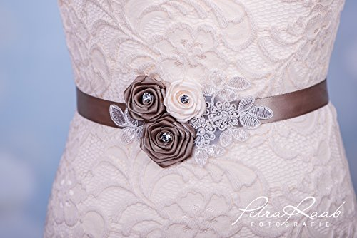 Brautgürtel Gürtel Brautkleid Braut Hochzeit Wedding Spitze PRE 21