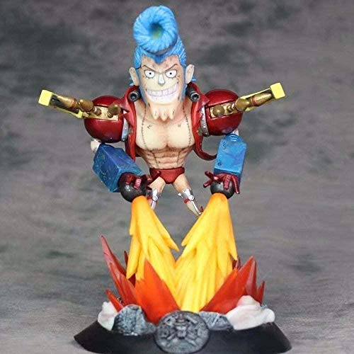 ZJZNB Figura de Anime Modelo Juguetes Pirata Sombrero de Paja Barco Pirata Navegante Frank Estatua Hecha a Mano Decoración en Caja Regalo de PVC de Unos 21 cm de Alto