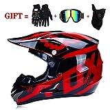 Cross Helmets Casque de sécurité Motocross, Goggle/Gants Moto/Masque, Moto Quad...