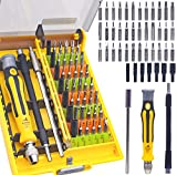 Precision Electronic Screwdriver Set R'deer 46 in 1 Magnetic Professional Repair Tools Kit with Extension Bar and Flexible Shaft for iPhone Mac PS4 PC Watch Glasses