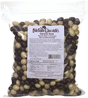 Dilettante Espresso Blend Espresso Beans In Semisweet, Milk and White Chocolate, 5 Pound