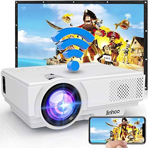 Jinhoo プロジェクター 3600LM【WiFi対応】スマホと直接に繋がる 交換ケーブル不要 USB/SD/HDMI/AV/VGA対応