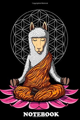 Notebook: This Llama Yoga Alpaca Buddha Poster Makes A Perf , Journal for Writing, College Ruled Size 6