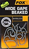 FOX Edges Armapoint Wide Gape Beaked Hooks - 10 Karpfenhaken, Angelhaken zum Karpfenangeln, Haken für Karpfen, Boiliehaken, Größe:8B - ohne Widerhaken