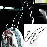 YSHtanj - Gancho para el respaldo del asiento del coche, herramienta universal de reparación de asiento trasero de coche, soporte de acero inoxidable, color plateado