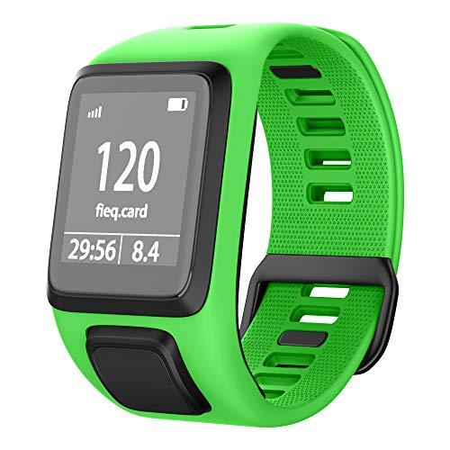 NotoCtiy Bracelet Tomtom Adventurer Montre,Bracelet De Rechange en Silicone pour Tomtom Runner 2 / Runner 3 / Spark 3 / Aventurier/Golfeur 7 Sports GPS Running