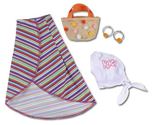 Nancy - Un Día de Streetstyle, Pareo, Blusa y Bolso para la muñeca, Multicolor (Famosa 700014790)