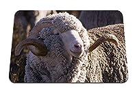 26cmx21cm マウスパッド (メリノ羊牛ウール) パターンカスタムの マウスパッド