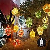 Migavne 9.84ft 20 LED Colorido Pascua Huevo Agrietado Adorno Cadena de Luces de...