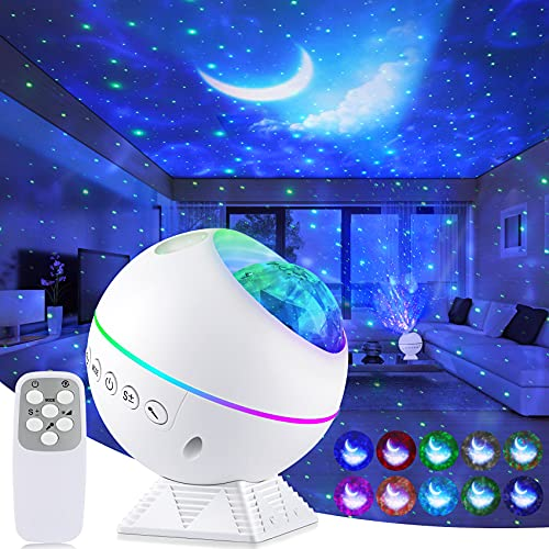 Galaxy Projector Star Projector, 3 in 1 Night Light Projector with Remote Control, Nebula Cloud Ceiling Light Projector with 40 Colors, 360° Magnetic Base Moon Galaxy Projector for Bedroom Kids Adult...
