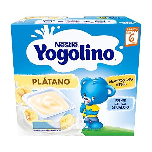 Nestlé Yogolino Postre lácteo con Plátano, Para bebés a partir de 6...