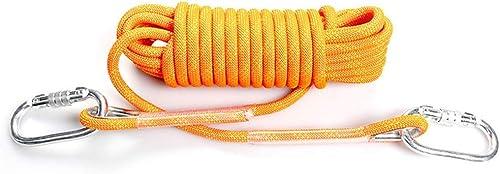 Escalade Corde Corde en Nylon multifonctionnelle, Corde de filage pour réseau extérieur d'ombrage pour Traction en Plein air - Orange - 10 15 20 25 30 35 40   50m