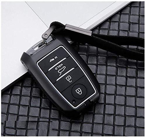 Cubierta de llave inteligente para llave de coche 3buttoncarbonblack caso clave cabon fibra de aleación de coche Smart Car clave cubierta Compatible Kia Kx3 KX5 K3s RIO Ceed Cerato Optima K5 Sportage
