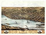 The Poster Corp Vintage Map of Lyons Iowa 1868 Clinton