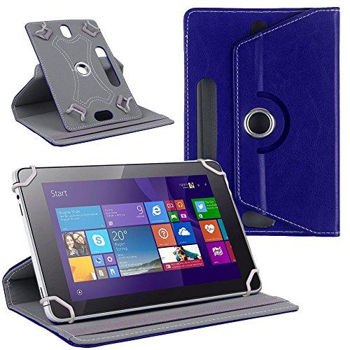 NAUC Tablet Tasche Hülle für CSL Panther Tab 10 Schutzhülle Cover Hülle 360° Universal, Farben:Blau