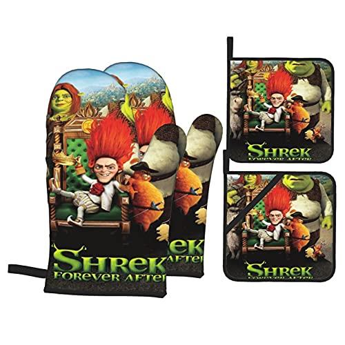 Shrek - Mini mitones de horno para microondas,...