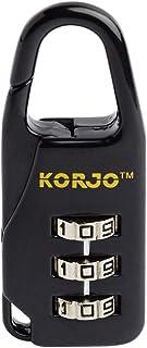 Korjo Luggage Lock, 2 Centimeters, Black