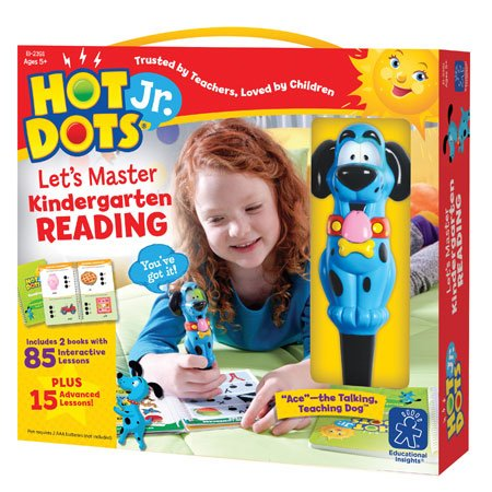 Educational Insights Hot Dots Jr. Let's Master Kindergarten Reading, Ages 5 and Up, (100 Self-Checking Lessons)