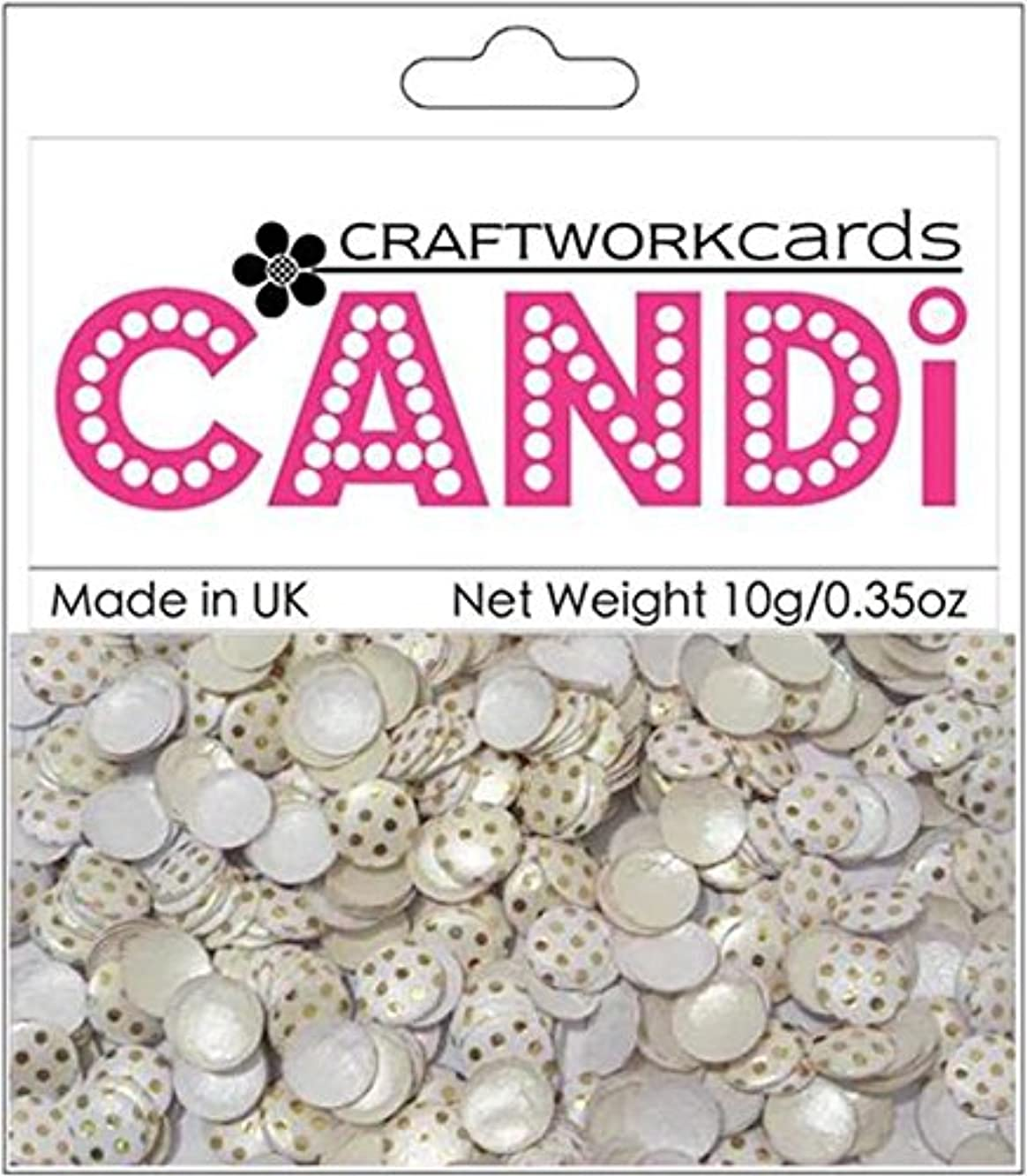 Craftwork Cards Candi Dot Printed Embellishments, 0.35-Ounce, Gold Wedding