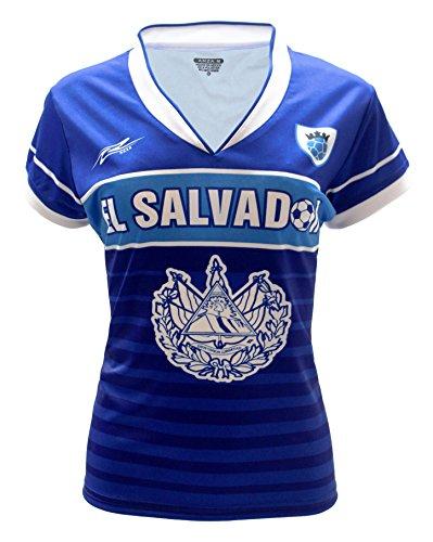 Arza Sports El Salvador Women Soccer Jersey (X-Large, Blue)