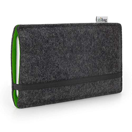 stilbag Funda de Fieltro 'Finn' para Sony Xperia Z5 Premium - Color: Antracita/Verde