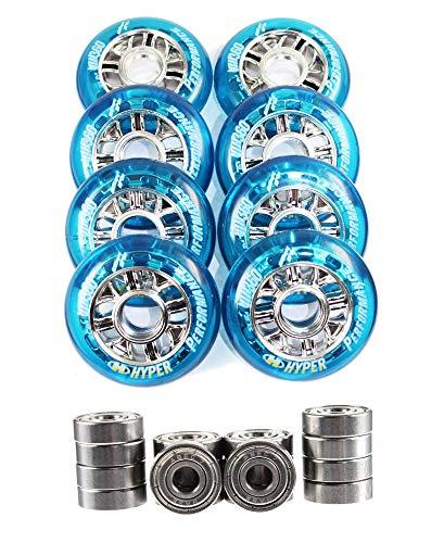 Hyper 4er 8er Superlite NX 360 Performence Rolle 80mm 82a Inliner Rolle + Option Kugellager ABEC 7 f. Inliner Skates K2 Fila Salomon Rollerblade