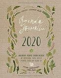 Agenda Journalier 2020: Grand Semainier et Calendrier Janvier à Decembre - To Do List + 45 Pages Dot Grid Pointillé - Journalier Organisateur A4 - Pratique Planificateur Journal Carnet Floral