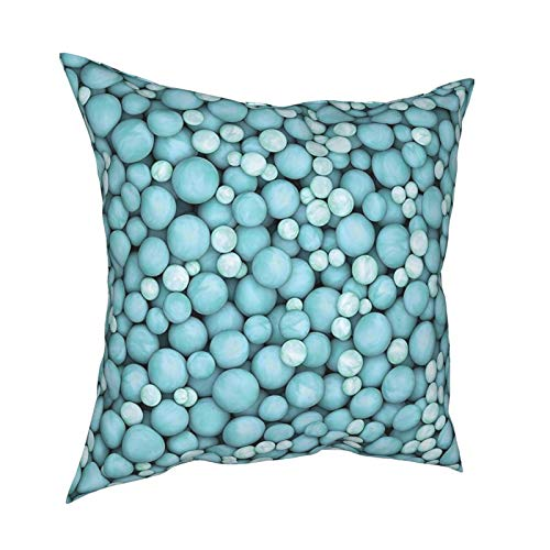 iksrgfvb Throw Pillow Case Fundas de cojín Perlas púrpuras Fundas de Almohada cuadradas para el sofá de la Sala de Estar de 18 x 18 Pulgadas