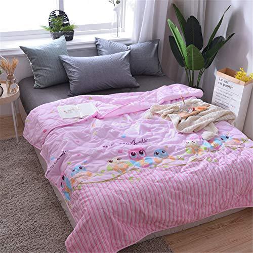 Fansu Tagesdecke Bettüberwurf Steppdecke Mikrofaser Doppelbett Einselbetten Gesteppt Bettwäsche Sofaüberwurf Wohndecke Bettdecke Stepp Gesteppter Quilt (Eule,200x230cm)