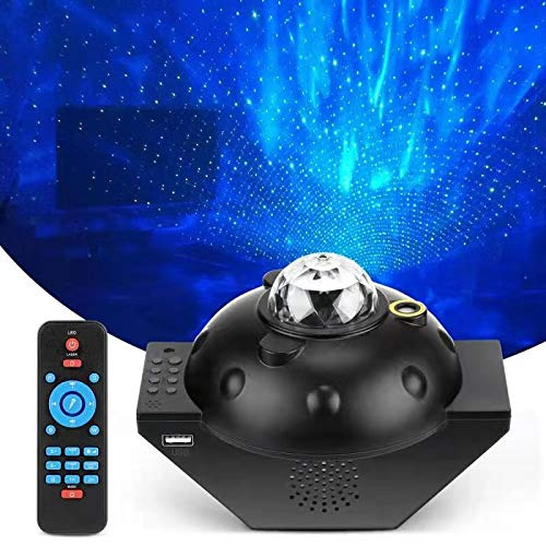 Galaxy Projector,FVF Night Light for Kids,2021 New Designed Star Projector LED Galaxy Ocean Wave Projector Bluetooth Music Speaker with Timers and 10 Colors,for Baby Bedroom Party Room Decoration
