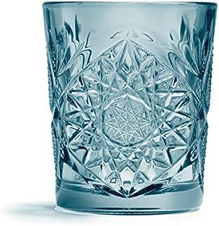 Libbey - Hobstar - Whiskyglas, Glas - Farbe: Blau - 355 ml - 1 Stück - Spülmaschinenfest - Streng Limitiert