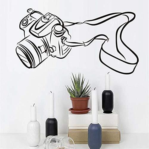 VIOYO Abnehmbare Spiegelreflexkamera Vinyl Selbstklebende WandaufkleberSchlafzimmer Wohnzimmer Home Decor