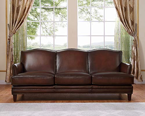 Hydeline Oxford 100% Leather Sofa, Brown