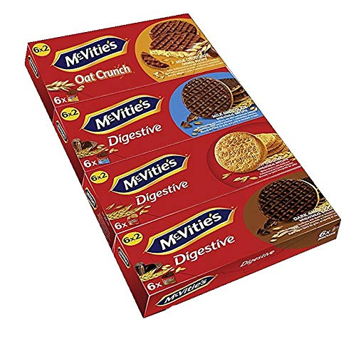 Mc Vities 4er Probierset, Milk Chocolate, Original, Oat Crunch, Dark Chocolate, 4er Pack,(