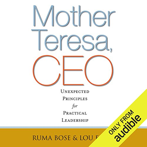 Mother Teresa, CEO audiobook cover art