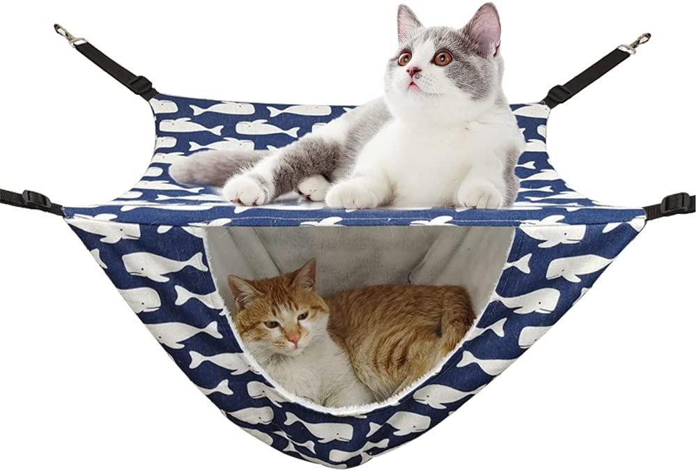 DEARLIVES Cat Hammock Jacksonville Mall Cage Double Layer San Diego Mall Hanging for Kitt Pet Bed