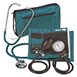 Veridian Aneroid Sphygmomanometer with Dual-Head Stethoscope Kit, Adult, Teal