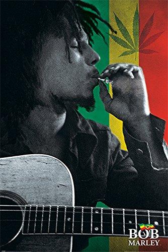 Bob Marley 'Smoke' Maxi Poster, 61 x 91.5 cm Mehrfarbig