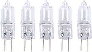 Uonlytech 20 Pcs 20W 12V G4 Base Bi-Pin Crystal Lamp Halogen Bulbs for Cabinet Lighting Spotlight