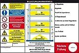 LEMAX® Belastungswarnhinweis f. Fachbodenregale,DGUV Regel 108-007,Kunststoff,300x200mm