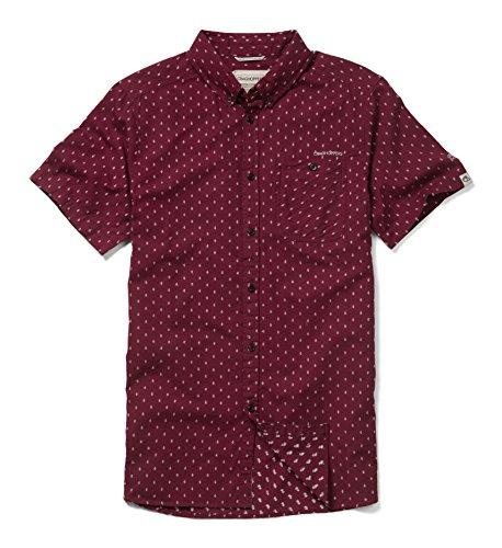 Craghoppers Herren Outdoor Reise Edmond Kurzarm Hemd, Brick Red Dobby, XXL