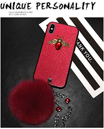 FENGT Gem Apple Mobiele Telefoon Shell Iphone 7/8 Beschermende Shell Iphone 8Plus Haar Bal Edelsteen Armband Mobiele Telefoon Beschermende Cover